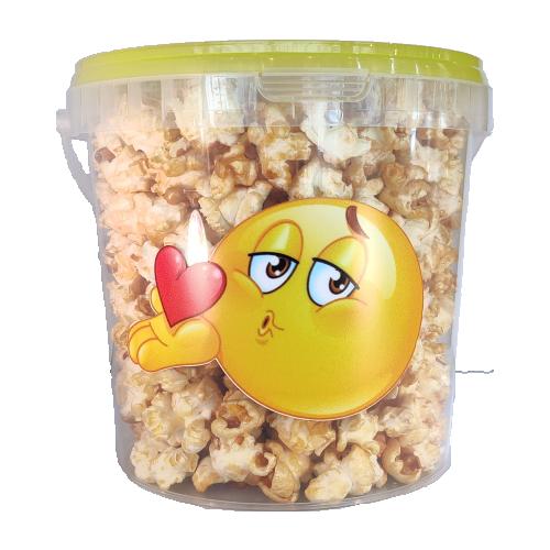 Petit seau de popcorn sucré